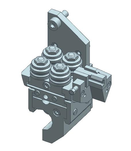 Tool usable with rotable roller wire guide